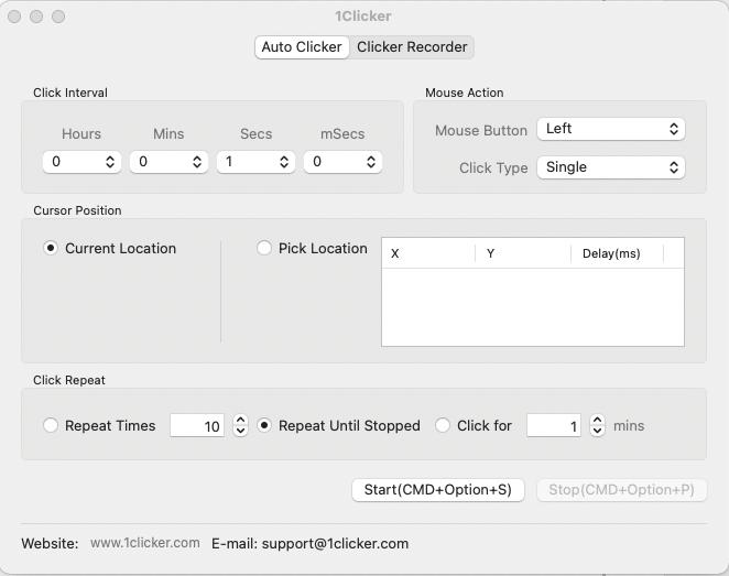 Free Auto Clicker for Mac Screenshot